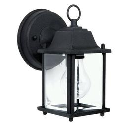 Capital Lighting 9850BK Outdoor Wall Fixture with Clear Glas