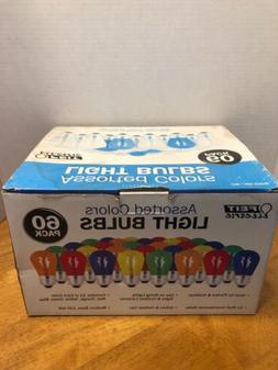 Feit Electric Assorted Colors Light Bulbs 60Pack Indoor/Outd