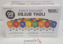 Feit Electric 60 Pack asst Colored Light Bulbs Parties Holid