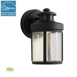 Hampton Bay Black Motion Sensor Outdoor Integrated LED Small