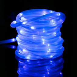 Blue Solar Rope Tube Lights LED Strip Waterproof Outdoor XMA
