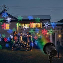 Christmas Moving LED Snowflake Lights Projector Snow Lamp St