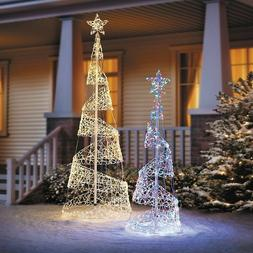 clearance 5 or 7 lighted spiral christmas