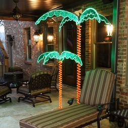 Deluxe Tropical LED Lighted Palm Tree Rope Light Holographic
