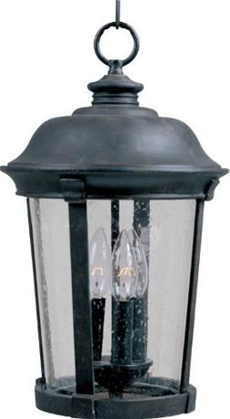 Maxim Dover DC Outdoor Hanging Lantern - 17H in. Bronze