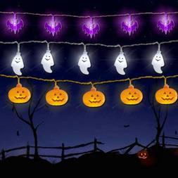 Halloween Lights Battery Operated String Lights for Outdoor