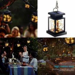 Hanging Solar Lights Outdoor Lanterns Fairy String Dusk To D