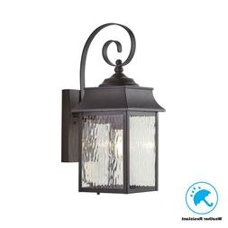Home Decorators Collection Scroll 1-Light Black Outdoor Wall