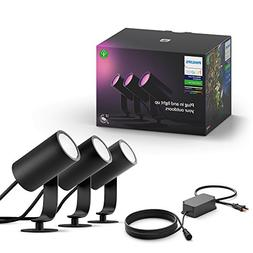 Philips Hue Lily White & Color Outdoor Spot Light Base kit ,