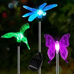 OxyLED Hummingbird Butterfly Dragonfly Solar Lights for Outd