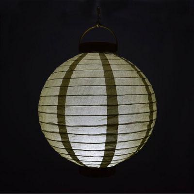 """10"""" Round Battery Operated Paper Lantern"""