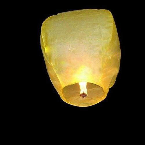 10pcs Chinese Paper Lamp Candle Fire Party Kongming