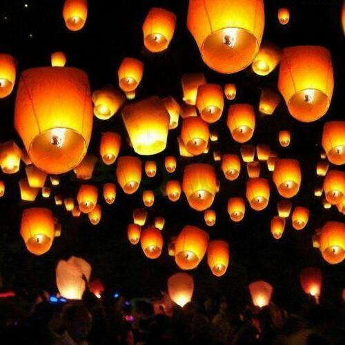 100 pack sky lanterns chinese paper candle