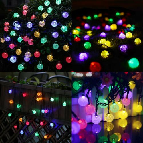 21FT Outdoor String Lights 30 LED Bulb Patio Party Wedding