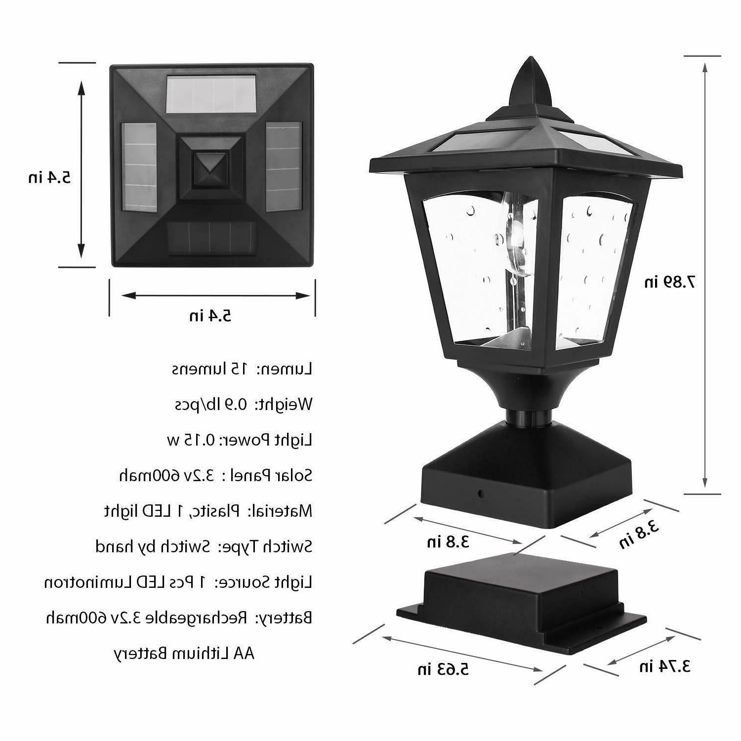 2PK Post Outdoor, Lamp Fence