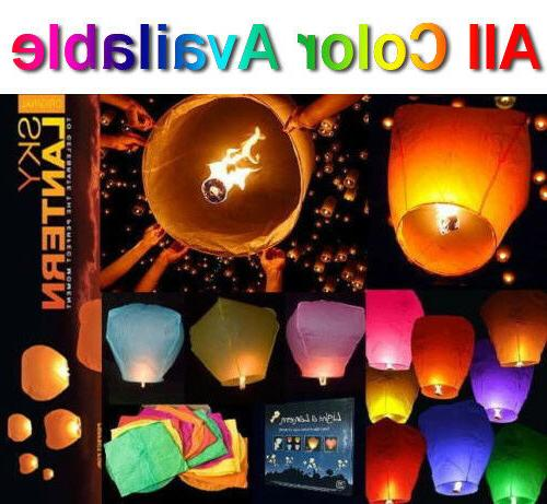 30pcs chinese paper sky flying lanterns fire