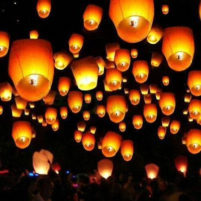 50 100 sky lanterns chinese paper candle