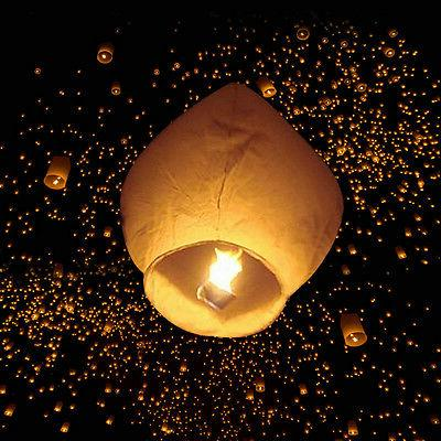 50PCS Sky Lanterns Lamp Wish Party