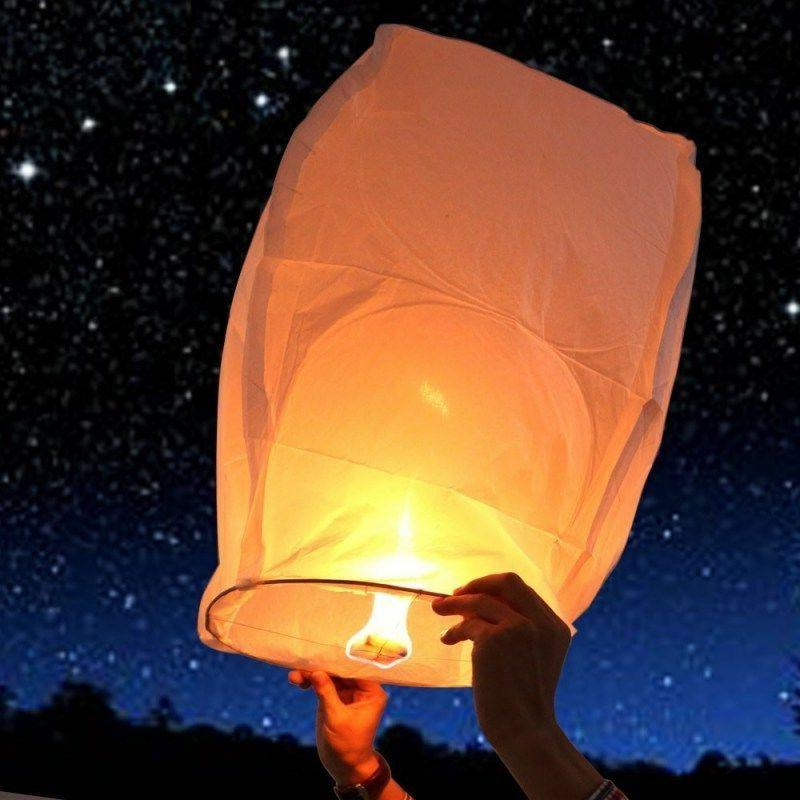 50PCS Chinese Paper Sky Flying Fire Light Wishing Lamp