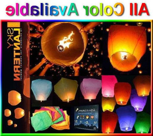 50pcs chinese paper sky flying lanterns fire