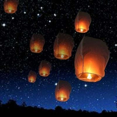 50x chinese sky lanterns environmental friendly sky