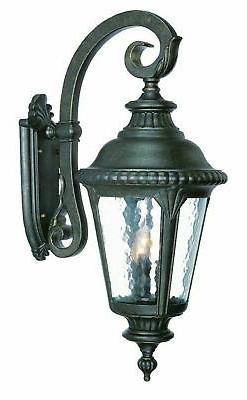 Acclaim 7222BK Surrey Collection 3 Light Wall Mount Outdoor