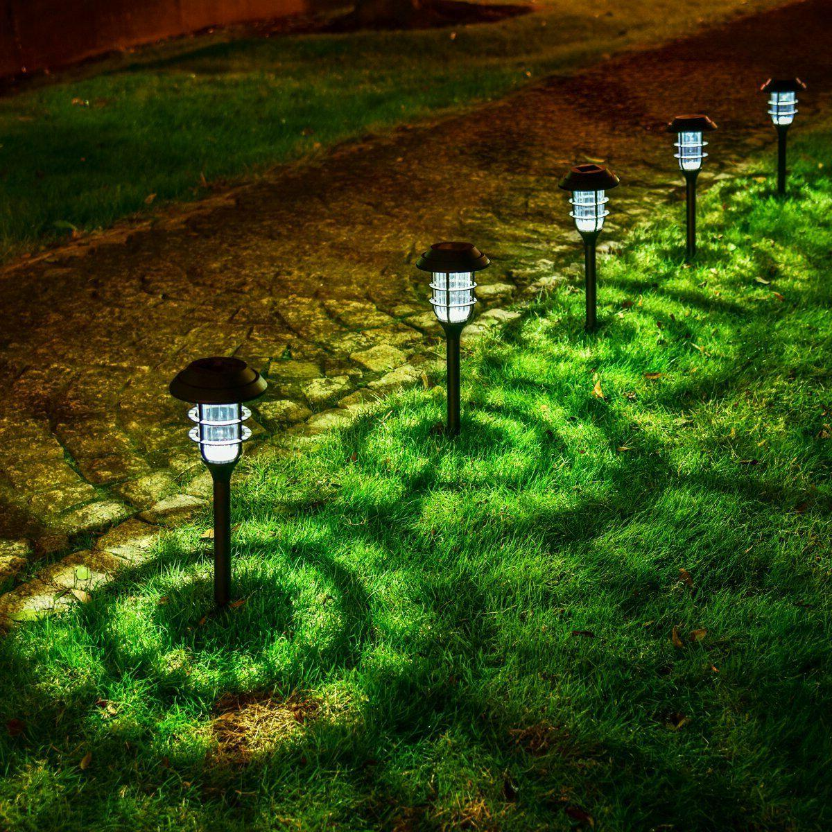 8Pcs Solar Lights Waterproof LED Outdoor Garden Landscape Lamp