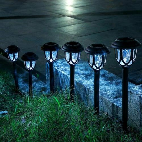 8 Pack Outdoor Garden Solar Pathway Lights Landscape Lawn Pa