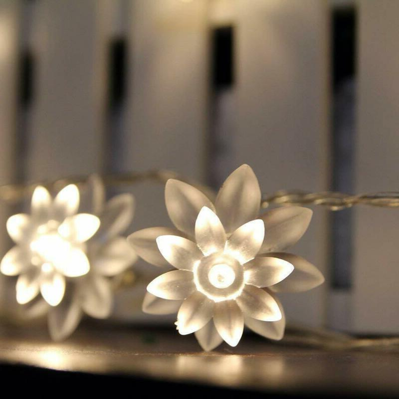 ER CHEN Battery Operated Indoor and Outdoor 60 LED Lotus Flo