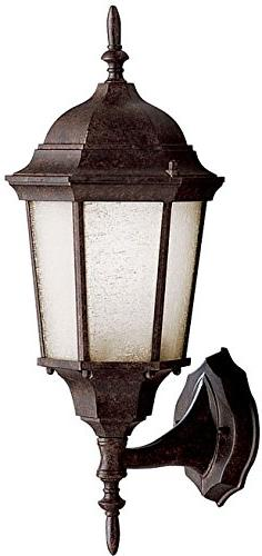 """Cast Aluminum 20"""" Outdoor Wall Lantern with Tannery Bronze P"""