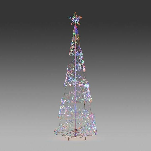 Clearance Lighted Spiral Christmas Tree Outdoor