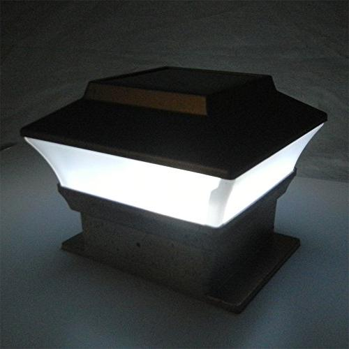 iGlow Pack Outdoor x 4 LED Deck Square Fence Light Lamp