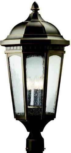 Courtyard Outdoor Post Lantern in Rubbed Bronze