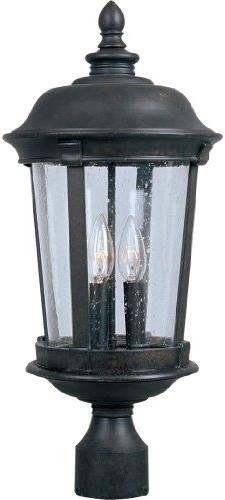 Maxim Dover DC Outdoor Post Lantern - 25.5H in. Bronze