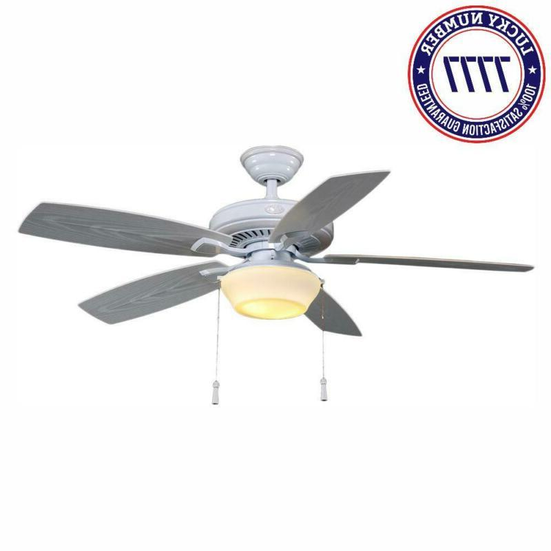 Gazebo 52 In. Led Indoor/Outdoor White Ceiling Fan With Ligh