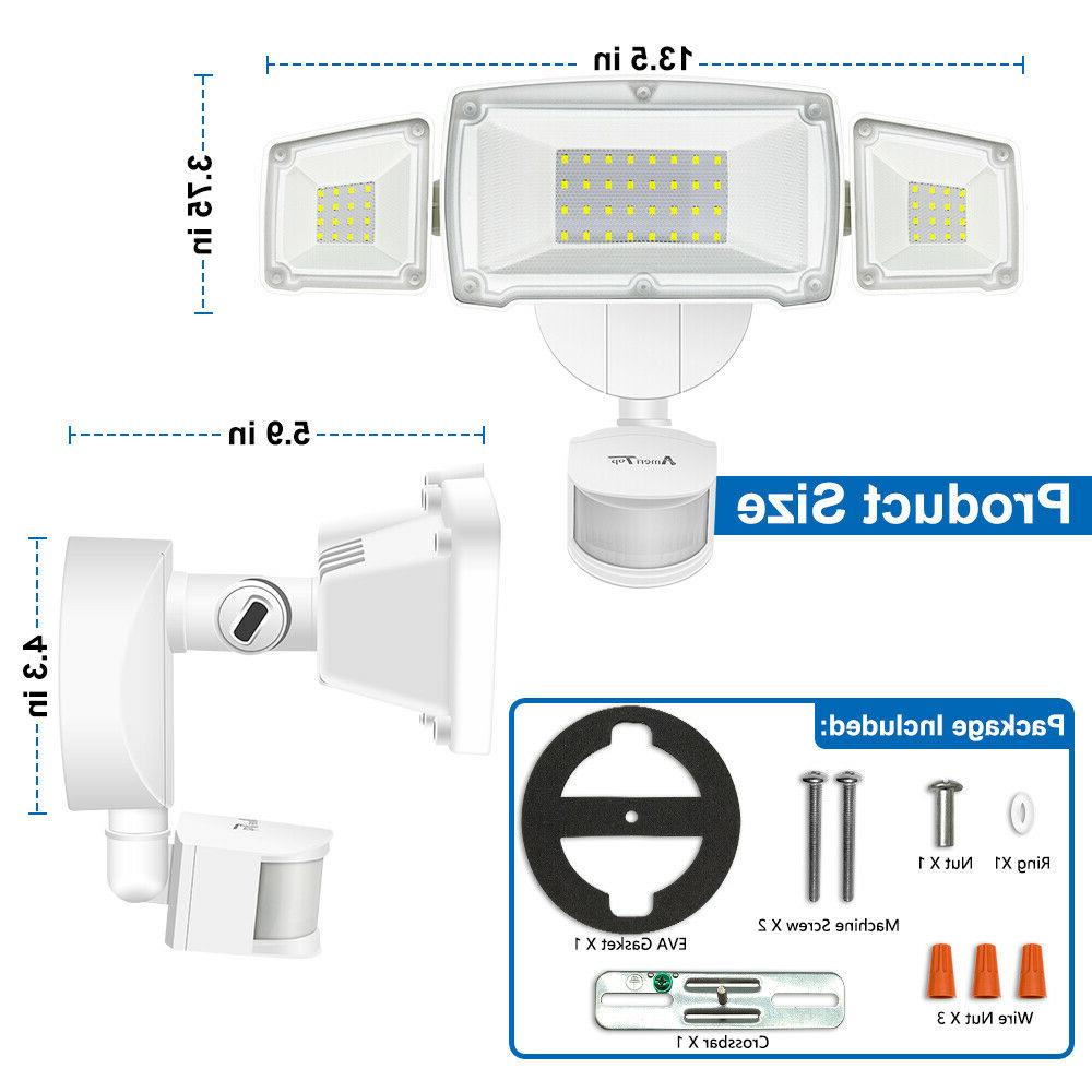 Motion Sensor Outdoor 39W Ultra Bright 3500LM LED Security Flood Lights