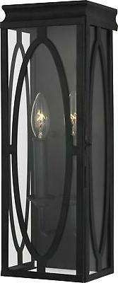 """Feiss OL14311DWZ Patrice Outdoor Wall Sconce Lights, 17"""" Hei"""