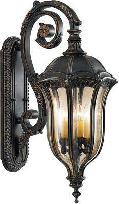 Feiss OL6004 Four Light Outdoor Wall Sconce - Walnut