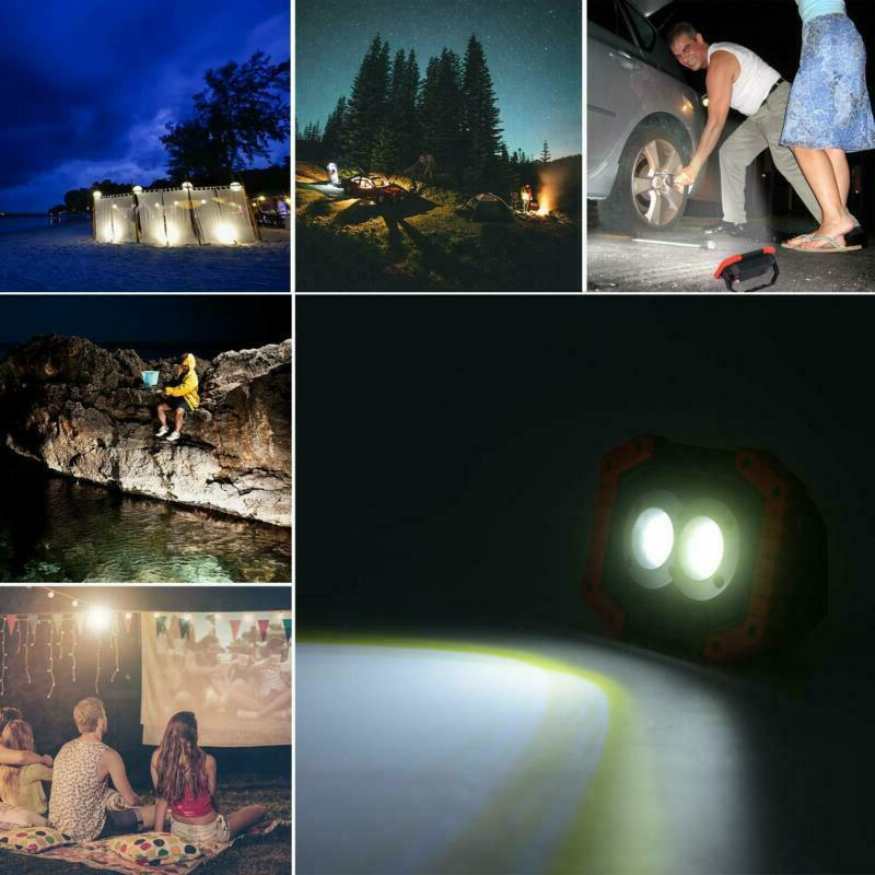 Led Work Light 2 Pack, Rechargeable Portable Waterproof Led