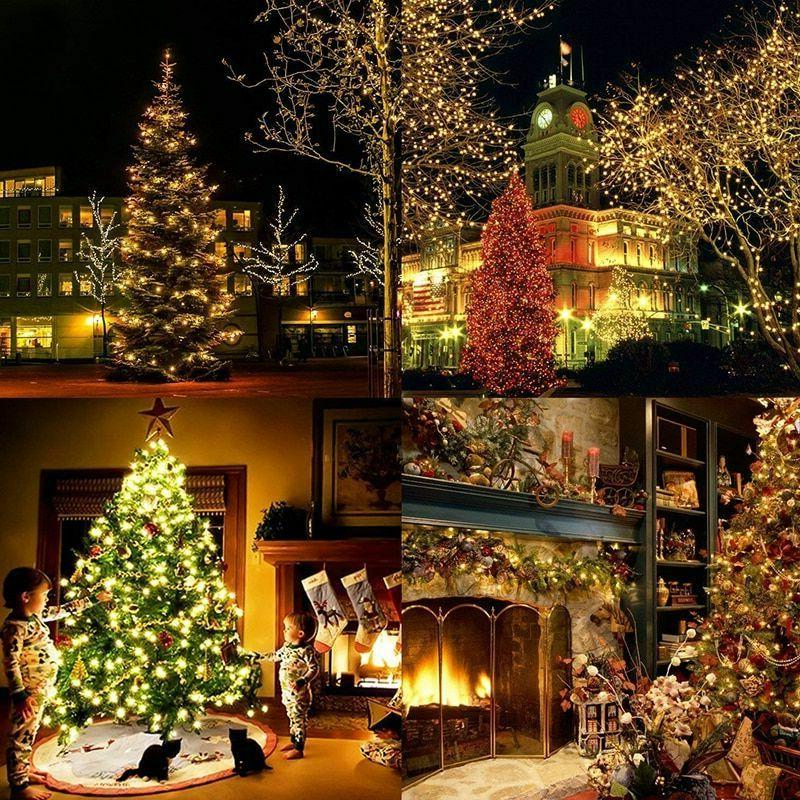 Outdoor Christmas string 100M 20M 10M 5M Decoration Holiday Garland