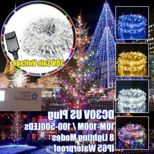 100-500 LED Garden Party String Fairy Lights Home Outdoor We