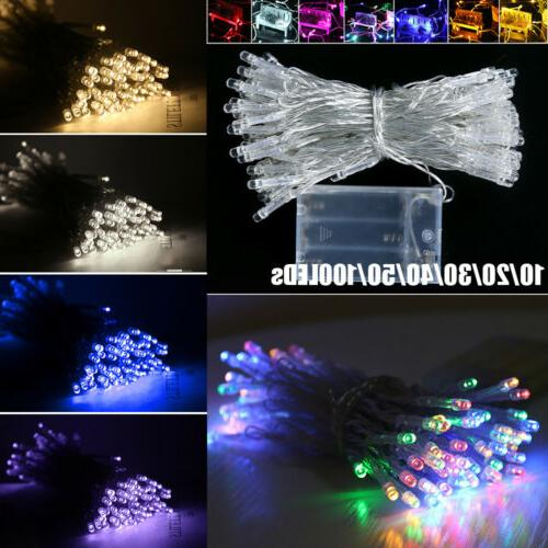 LED Christmas String Lights Indoor / Outdoor Battery Operate