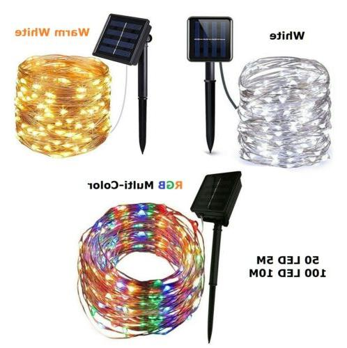 outdoor solar string lights waterproof led copper