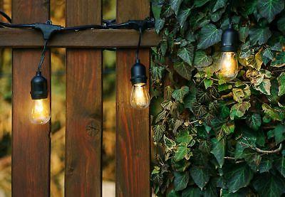 Hyperikon Outdoor String Lights, 48ft 15 Dropped