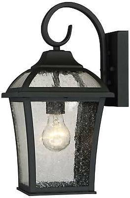 Outdoor Wall Fixture Set Black for House