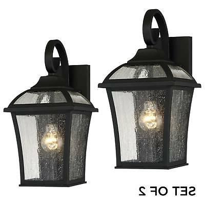 Outdoor Lights Black Glass for