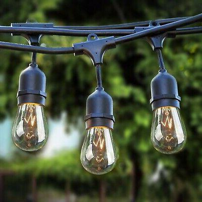 patio outdoor string lights weatherproof commercial grade