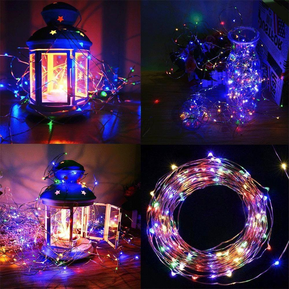 Solar String Copper Wire Waterproof Outdoor Fairy LED Decor