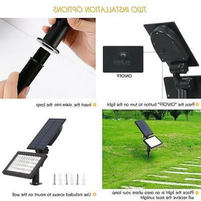 Solar Power 50-LED Spotlight Landscape Outdoor Pathway 960LM