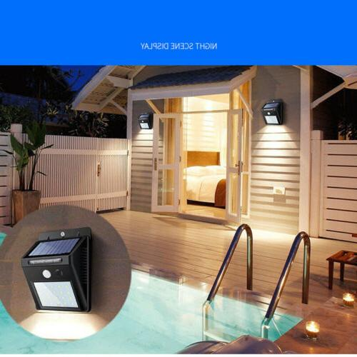 Outdoor LED Solar Wall Power Motion Sensor Path Lamp